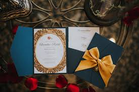 and the beast wedding invitations be our guest and the beast inspired wedding ideas