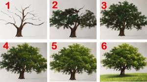 how to paint a tree with acrylic lesson 16