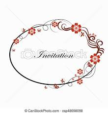 eps vectors of oval simple ornamental frame beautiful oval