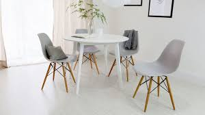 Gloss White Dining Table And Chairs Eye Catching White Dining Table And Eames Chair Set Uk At
