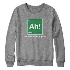 Sweater Meme - ah element of suprise new mens womens funny meme nerd sweater jumper