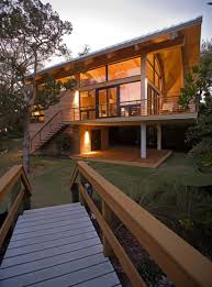 wooden small beautiful guest house on a barrier island home