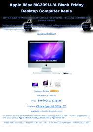 black friday desktop computer deals apple i mac mc309lla black friday desktop computer deals