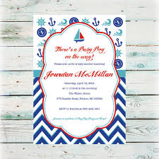 nautical baby shower invitations printable nautical baby shower invitation baby boy shower