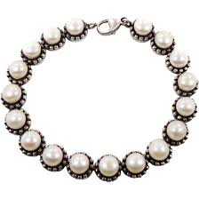 silver pearls bracelet images Pearl bracelet sterling silver vintage bracelet cultured pearls jpg