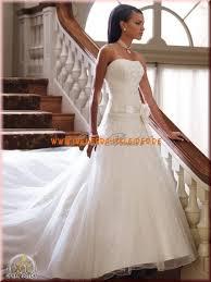 traumhaftes brautkleid aus organza a linie mit applikation kaufen - Brautkleider Kaufen
