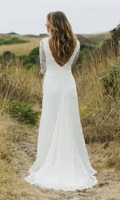 lace backless wedding dress boho bridal gown tessa sleeve lace backless wedding dress