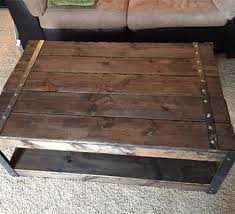 steel and wood table rustic steel legged coffee table ks woodworking