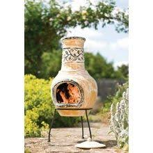 Clay Chiminea Bbq La Hacienda Star Flower Clay Chiminea Bbq With Grill Home