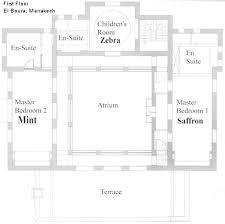 moroccan riad floor plan elboura plan1 jpg
