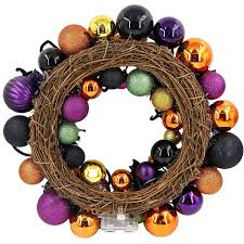 amazon com valery madelyn 20 u201d pre lit halloween wreath with