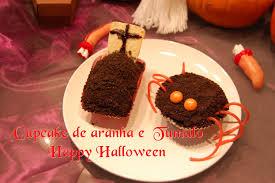 diy receita cupcake de aranha e tumulo halloween halloween food