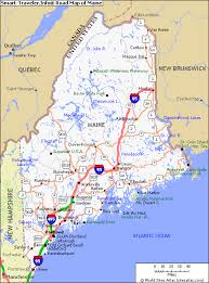 map of maine map of maine travelquaz
