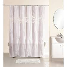 Lace Shower Curtains Sheer Lush Decor Quartet White Shower Curtain At Hayneedle New Pearl