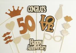 photo booth props 50th anniversary party decorations 15pc set