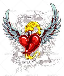 Hearts With Wings - burning with wings by vecster graphicriver