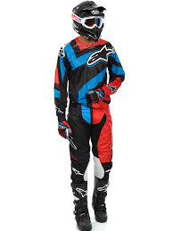 motocross protection gear alpinestars black red blue 2016 techstar factory mx jersey
