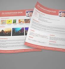 Dj Resume Design4dj Dj Press Kit U0026 Dj Resume Templates