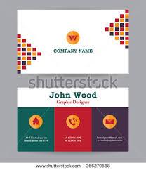 Flat Design Business Card Modern Business Card Template Flat Design Stock Vector 365595449