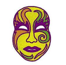 mardi gras embroidery designs mardi gras mask embroidery design ebay