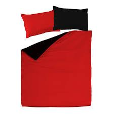 black u0026 red 100 cotton reversible bed linen set duvet cover