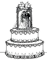 birthday cake coloring page printable free wedding pages online