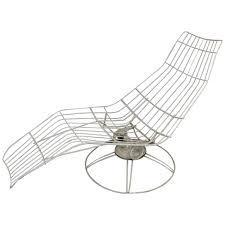 Homecrest Vintage Patio Furniture - homecrest metal wire banana lounge chair at 1stdibs