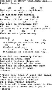 Hymns Of Comfort Top 500 Hymn God Rest Ye Merry Gentlemen Lyrics Chords And Pdf