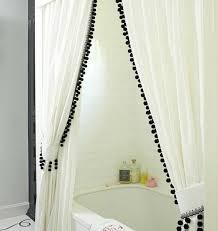 White Black Curtains White Curtains With Black Trim Curtains Ideas
