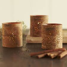 aromatic cinnamon bark tealight candle holders so that s cool