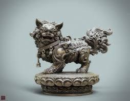 asian lion statues artstation a lion statue bronze version zhelong xu