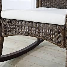 Indoor Outdoor Rocking Chair Mocha Resin Wicker Indoor Outdoor Rocking Chair With Beige