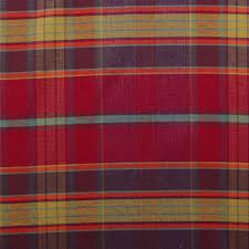 Red Plaid Upholstery Fabric Designer Discount Linen Look Tartan Check Plaid Curtain Upholstery