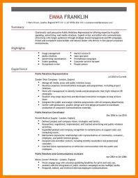Public Relation Resume Public Relations Resume Sample Touringconcert Manager Intern