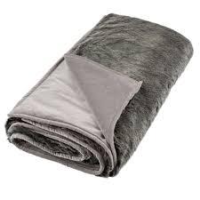 Fake Fur Throws Grey Faux Fur Throw Feather U0026 Black