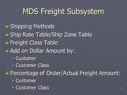 mds class 1 mds freight shipping overview tsh user meeting ppt