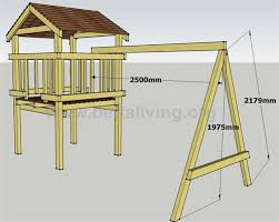 Play Fort Plans The Roof And Swing Set Frame Ideas For The - Backyard fort designs