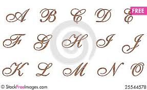 ornamental letters copper 1 free stock images photos