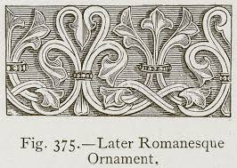 romanesque form of ornament used for architectural borders