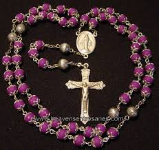 pink rosary petal rosaries and chaplets