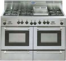 Clean Stainless Steel Cooktop Delonghi Dlp48p6gss Freestanding 48