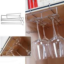 metal wine glass rack holder hanging frame hanger under cabinet