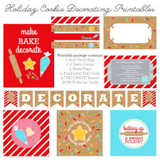 holiday cookie decorating party printables