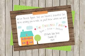 Invitation Card For New Home We U0027ve Moved New Home Change Of Address Card New