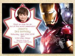 iron man birthday invitations for children u2013 bagvania free