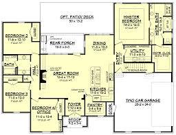 european style house plan 4 beds 2 00 baths 2210 sq ft plan 430