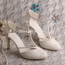 lace ivory wedding shoes custom made high heel t shoes wedding ivory lace bridal
