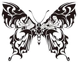 free tribal butterfly drawings free clip free clip