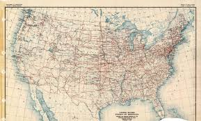 Old United States Map by Old National Road U S Highway System 1926