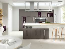 Kitchen Cabinets With Open Shelves Modern Dark Gray Kitchen Cabinets White Marble Countertop Double